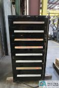 8-DRAWER HARDWARE CABINET WITH CONTENTS