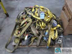 (LOT) SKID LIFTING AND HOLD DOWN STRAPS