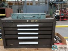 5-DRAWER KENNEDY TOOL BOX WITH MACHINE TOOLING