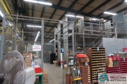 CONTENTS OF MAINTENANCE CRIB INCLUDING FILTERS, HARDWARE, MACHINE PARTS, LIGHTING, WIRE,