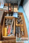(LOT) ASSORTED PERISHABLE TOOLING; DRILLS, TAPS, END MILLS, INSERTS