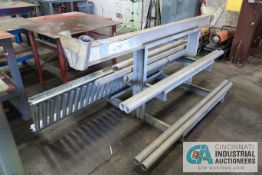 """96"""" X 14' ALUMINUM A-FRAME STAND WITH CANTILEVER RACK"""
