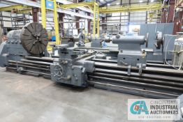 "60"" X 168"" OERLIKON MODEL DM5S HEAVY DUTY ENGINE LATHE; S/N 257103, 48"" 4-JAW CHUCK, TAILSTOCK,"