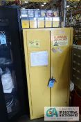 60 GALLON EAGLE FLAMMABLE CABINET WITH CONTENTS