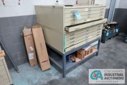 5-DRAWER FLAT MATERIAL CABINETS WITH INSULATION MATERIAL AND STAND