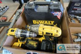 MISC. CORDLESS TOOLS INCLUDING DRILLS, SAWZALL, OSCILLATING MULTI-TOOL & CHARGERS