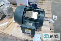 5 HP TOSHIBA FRAME 184T ELECTRIC MOTOR, 1,755 RPM (NEW)