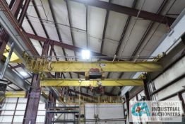 **5 TON X 30' APPROX. SPAN SPACE MASTER SINGLE GIRDER UNDER HUNG OVERHEAD CRANE; NO. 70228C,