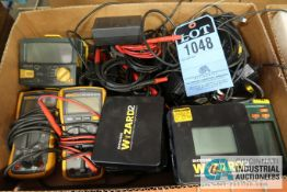 (LOT) MULTIMETERS, TEMPERATURE DATALOGGERS & INSULATION TESTERS