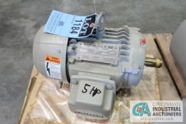 5 HP SIEMENS FRAME 184T ELECTRIC MOTOR, 3,550 RPM (NEW)
