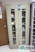 2-DOOR GLOBAL CABINET WITH CONTENTS