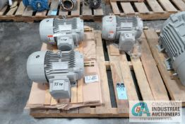7-1/2 HP SIEMENS TYPE SD100 ELECTRIC MOTORS, 1,765 RPM (NEW)