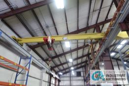 **10 TON X 30' APPROX. SPAN WRIGHT SINGLE GIRDER TOP RUNNING OVERHEAD CRANE, NO. 70224/A/B, 6-WAY