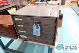 4-DRAWER CABINET WITH LATHE CUTTERS, INSERTS AND HARDWARE