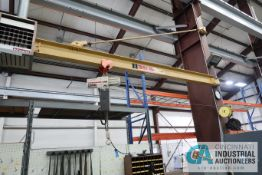 2 TON X 15' ARM COLUMN MOUNTED JIB WITH COFFING HOIST