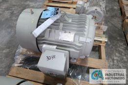 30 HP SIEMENS TYPE SD100-IEE FRAME 326T ELECTRIC MOTOR, 1,185 RPM (NEW)