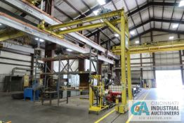 **5 TON X 20' APPROX. SPAN SHAWBOX SINGLE LEG GANTRY CRANE, REMOTE PENDANT; NO. 70222A **SOLD