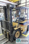 5,000 LB. DAEWOO MODEL G25S LP GAS SOLID PNEUMATIC TIRE LIFT TRUCK, 10-02003, 3-STAGE MAST, 188""