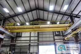 **20 TON X 56' APPROX. SPAN CONCO DOUBLE GIRDER TOP RUNNING OVERHEAD CRANE; S/N 9162, RADIO