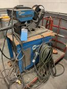 MIG WELDER WITH WIRE FEEDER AND CART