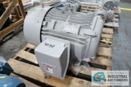 40 HP SIEMENS SD100-IEE ELECTRIC MOTOR, 3,535 RPM (NEW)