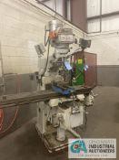 "3 HP ALLIANT VERTICAL MILLING MACHINE; S/N K9VL-1160, 10"" X 54"" POWER TABLE, DRO, 70-4,200 RPM, 6"""