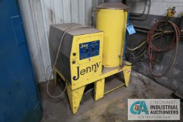 JENNY MODEL SJ-150 NATURAL GAS FIRED STEAM CLEANER WITH REEL AND WANT **TAW WILL COVER OPENING IN