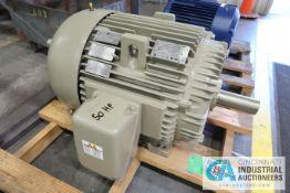 50 HP GE CAT NO. M9456 ELECTRIC MOTOR, 1,185 RPM (NEW)