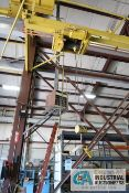 2 TON ROBBINS AND MYERS OVERHEAD CABLE HOIST, 2-WAY PENDANT *HOIST AND TROLLEY ONLY**