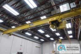 **3 TON X 30' APPROX. SPAN ELECTRO LIFT SINGLE GIRDER UNDER HUNG OVERHEAD CRANE, NO. 70229A, 6-WAY