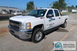2012 CHEVROLET 3500HD QUAD CAB DIESEL ENGINE PICKUP TRUCK; VIN # 1GC4CZC82CF119703, 6.6 LITER V-8
