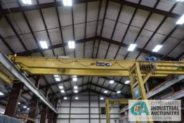**7-1/2 TON X 56' APPROX. SPAN CONCO DOUBLE GIRDER TOP RUNNING OVERHEAD CRANE; S/N 9148, RADIO