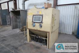 5' X 5' EMPIRE MODEL 6060PF BLAST CABINET; S/N 8003, WITH EMPIRE MODEL DCM-200A DUST COLLECTOR,