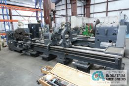 "40"" / 48"" X 220"" POREBA MODEL TPK-90/5M GAP BED ENGINE LATHE; S/N 1179-1285, 31"" 4-JAW CHUCK,"