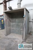 6' X 7' BACK DRAFT SPRAY BOOTH **TAW WILL COVER OPENING IN WALL**