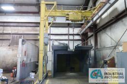 **5 TON X 13' APPROX. SPAN SINGLE LEG GANTRY CRANE, REMOTE PENDANT; NO. 70231D **SOLD SUBJECT TO BID