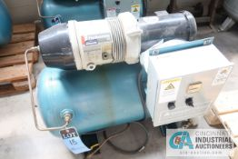 2 HP COMPAIR MODEL 10 PURS HORIZONTAL TANK AIR COMPRESSOR; S/N 010-000131, 3 PHASE, 230 VOLTS, HOURS