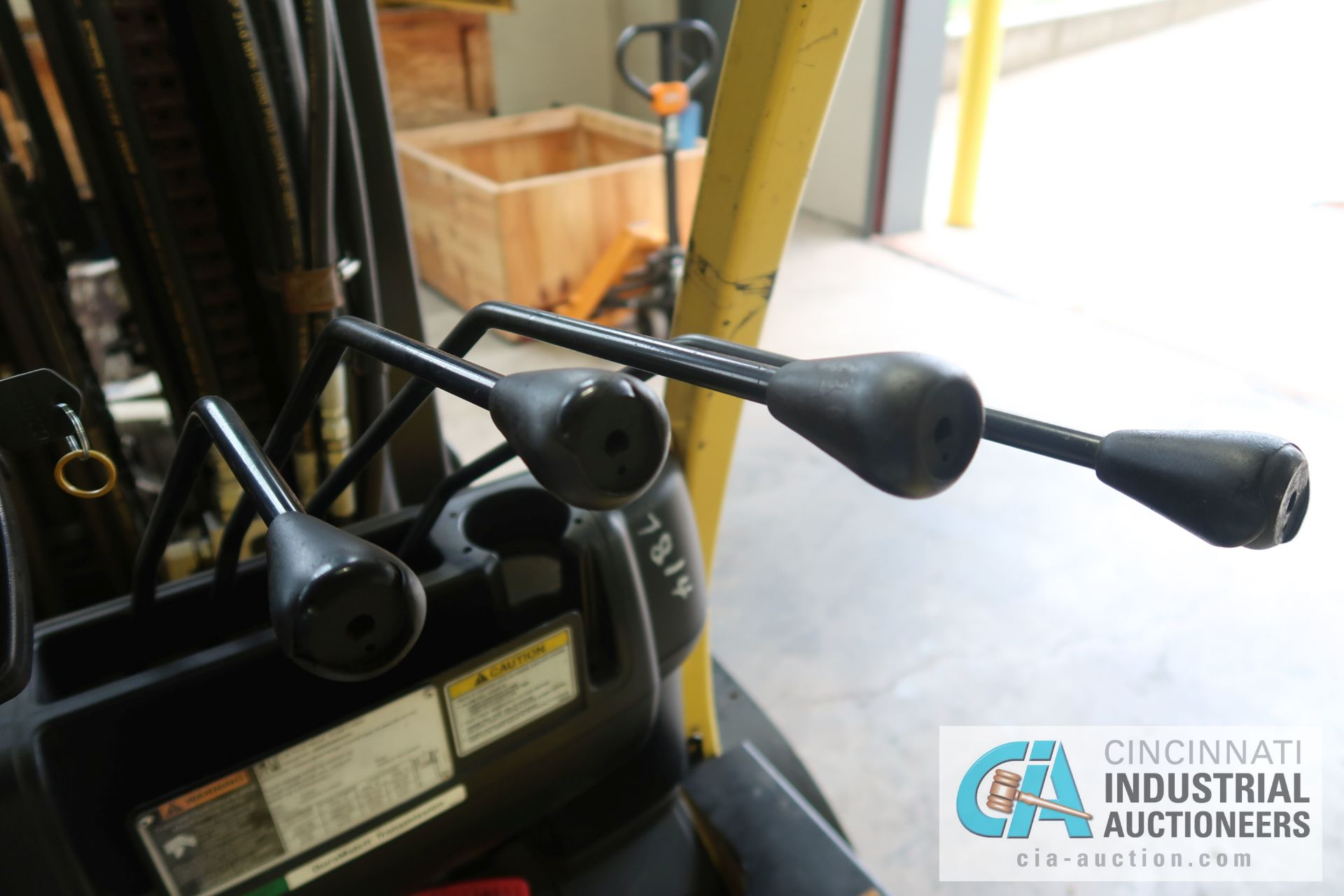 12,000 LB. HYSTER MODEL S120FT-PRS LP GAS CUSION TIRE THREE-STAGE MAST LIFT TRUCK; S/N - Image 8 of 12
