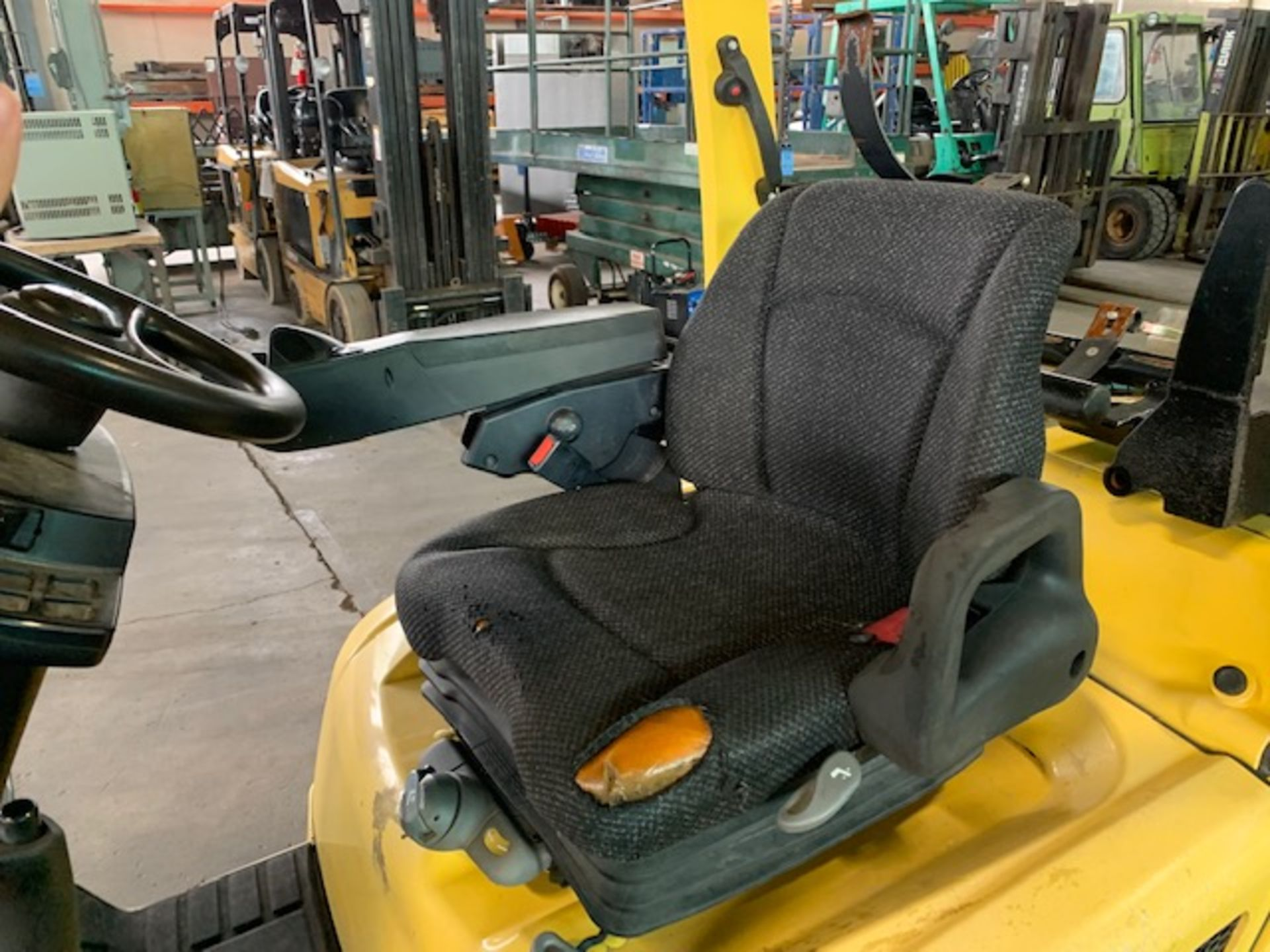 5,000 LB. HYSTER MODEL S50FT LP GAS CUSHION TIRE LIFT TRUCK; S/N F187V25799M - Image 10 of 10