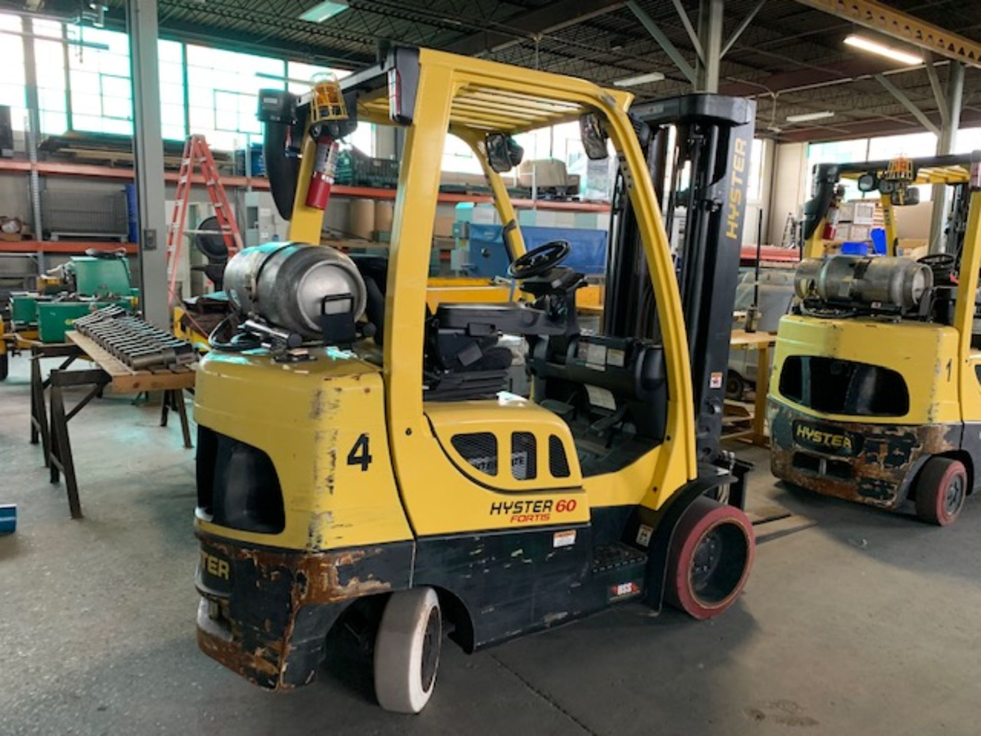 5,000 LB. HYSTER MODEL S50FT LP GAS CUSHION TIRE LIFT TRUCK; S/N F187V25798M - Image 3 of 11