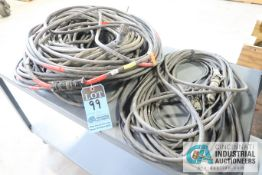 (LOT) MISCELLANEOUS USED PIN PLUG CABLES **NO CARTS - CONTENTS ONLY**