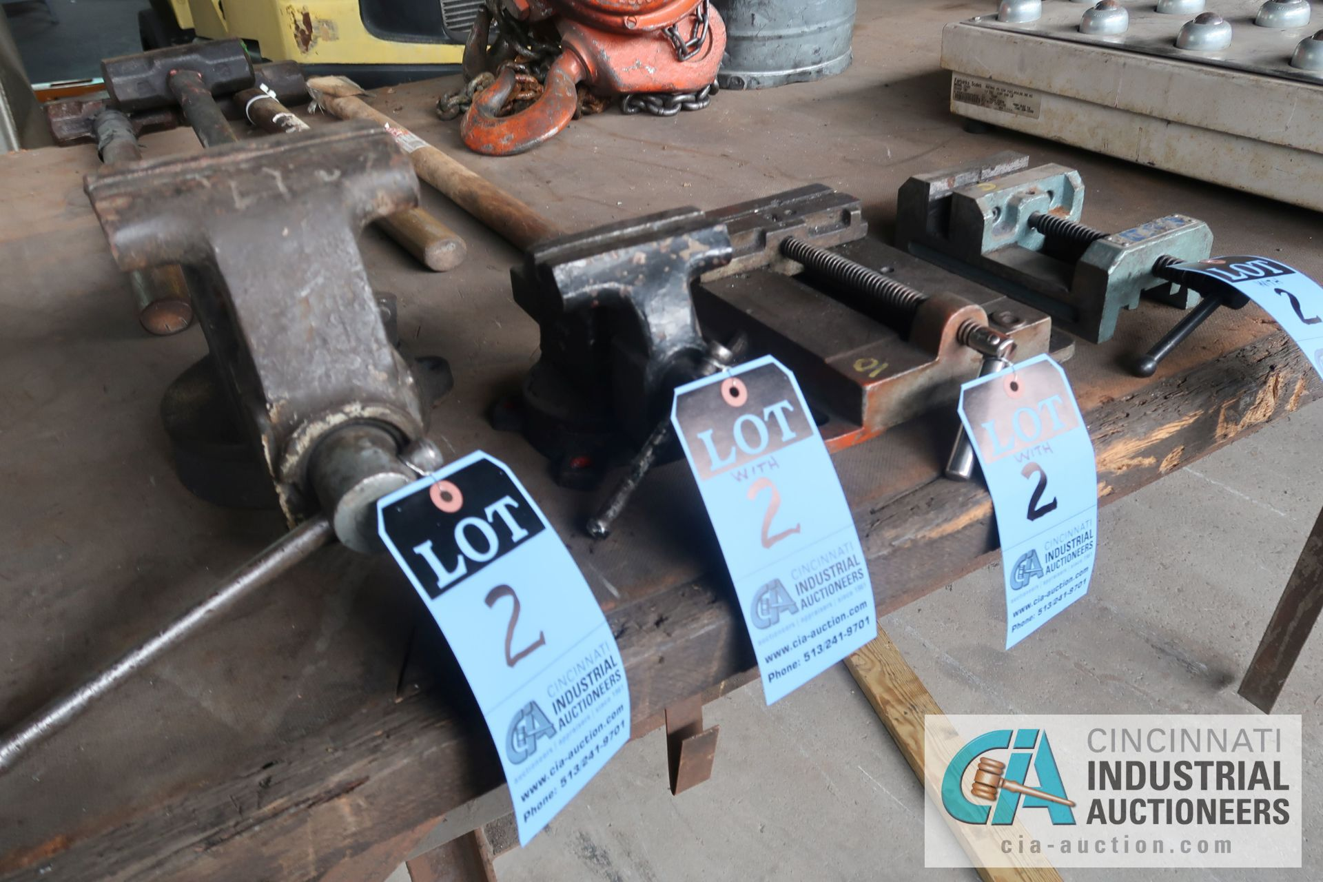 """PIECES TOTAL 5"""" AND 4"""" BENCH VISES WITH 6"""" AND 4"""" DRILL VISES"""