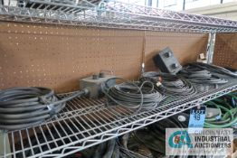 (LOT) MISCELLANEOUS WELDING WIRE FEED CONTROLS, MIG GUNS WITH HOSE AND OTHER WIRE FEED AND WELDING