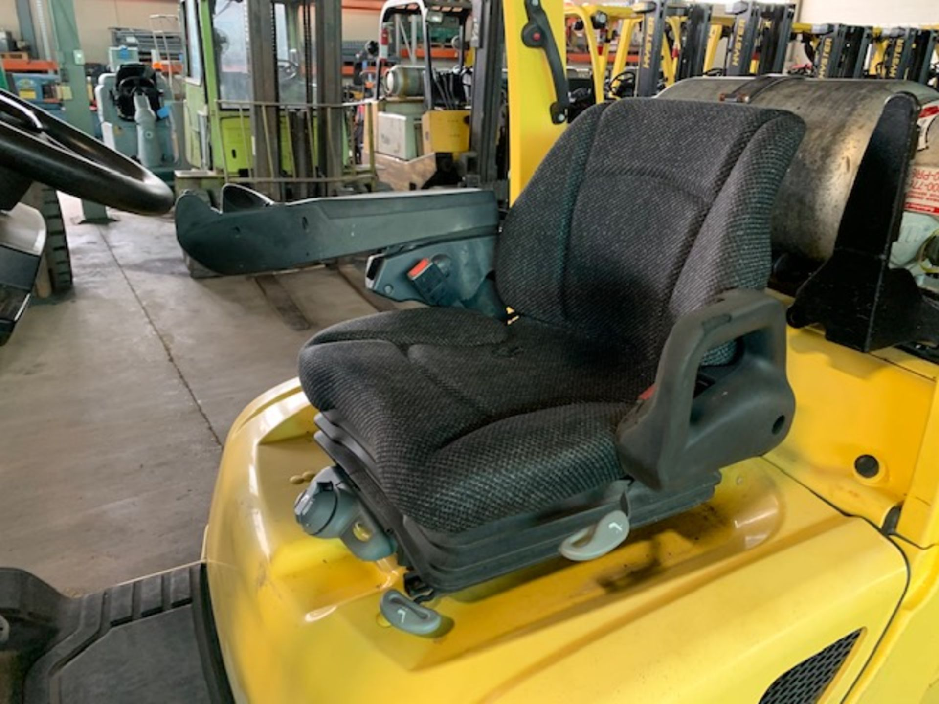 5,000 LB. HYSTER MODEL S50FT LP GAS CUSHION TIRE LIFT TRUCK; S/N F187V25798M - Image 11 of 11