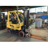 5,000 LB. HYSTER MODEL S50FT LP GAS CUSHION TIRE LIFT TRUCK; S/N F187V25800M