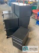 "2-DOOR FILE CABINETS WITH WHEELS, APPROX. 15"" WIDE X 23"" DEEP X 21.5"" HIGH"