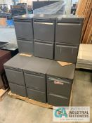 "2 DOOR FILE CABINETS, 15"" X 20"" X 26.5"" HIGH"