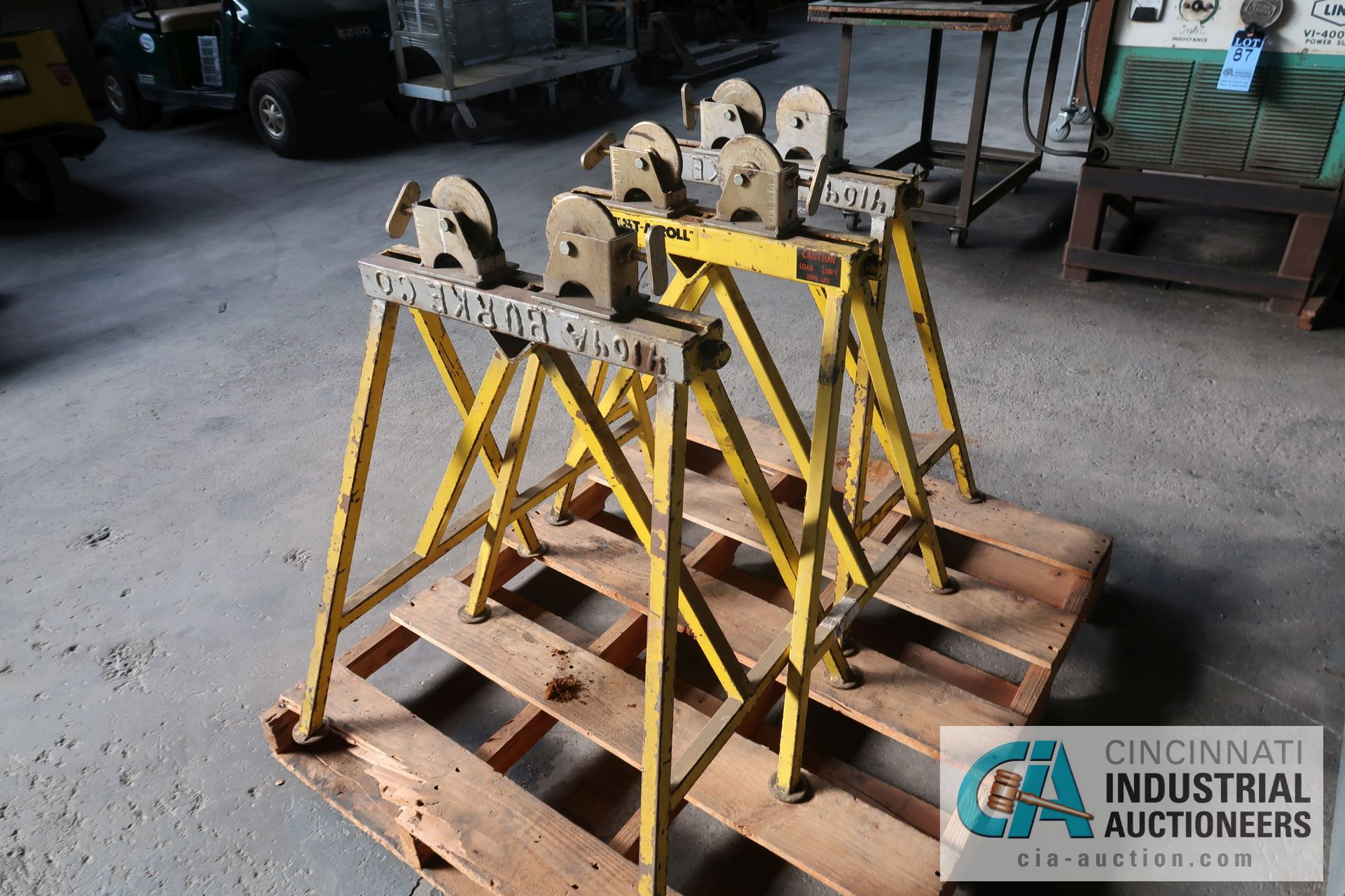 2,000 LB. CAPACITY SUMNER ADJUST-A ROLL STEEL WHEEL ROLLER STANDS
