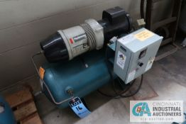 2 HP COMPAIR MODEL 10 PURS HORIZONTAL TANK AIR COMPRESSOR; S/N 010-000758, 3 PHASE, 230 VOLTS, HOURS