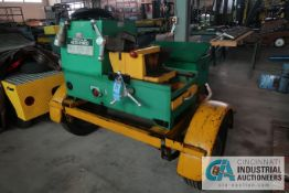 GREENLEE MODEL 460 TRAILER MOUNTED AUTO-TREAD MACHINE; S/N 1381, NEW 11-1981, 480 VOLTS, 3-PHASE,